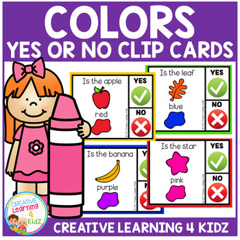 Color Yes or No Clip Cards