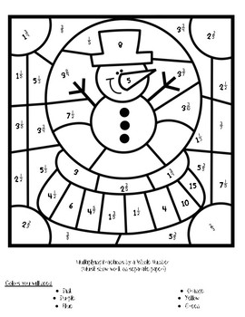 Color Your Answer: Multiplying Fractions By Whole (TEKS 5.3I)