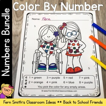 Color By Numbers Know Your Numbers While Making New Friends