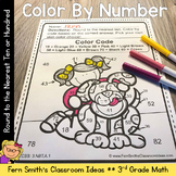 3rd Grade Go Math 1.2 Round to Ten or Hundred Color By Number