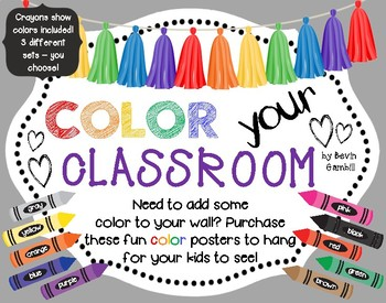 Color Your Classroom - Color Word Posters
