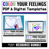 Color Your Feelings Bundle: Activities for Exploring Feelings