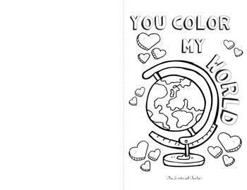 Color Your Heart Out Valentines Kit - Crayon label and coloring sheet