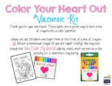 Color Your Heart Out Valentines Kit - Crayon label and col