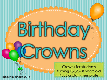Color Your Own Birthday Crown