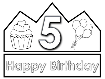 Color Your Own Birthday Crown by Kinder in Kinder | TpT