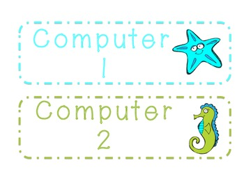Under the Sea Computer Labels