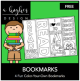 FREE Color Your Own Bookmark {A Hughes Design}