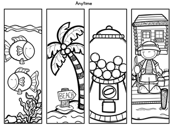 Color Your Own Bookmarks