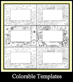 Color Your Own Borders for Word Walls, Site Words, ABC Cards, Numbers,