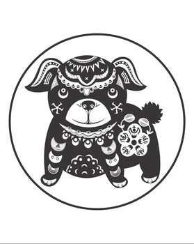 Color Your Own Brown Dog For Chinese New Year!