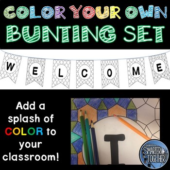 Color Your Own Bunting Banner
