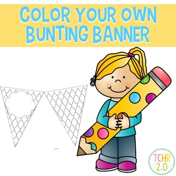 Bunting Banners Color Your Own Geometric Designs