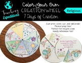 Color Your Own- Days of Creation Learning Wheel