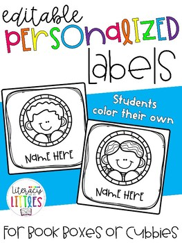 Color Your Own Editable Personalized Labels {for cubbies or book boxes}