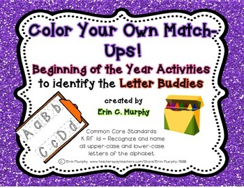 Color Your Own Match-Ups! Letter Buddies