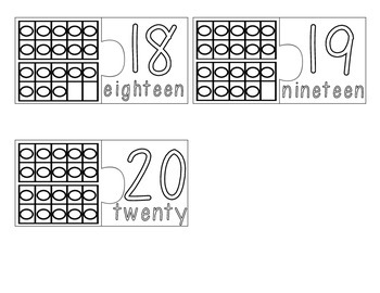 Color Your Own Match-Ups! Number Sets