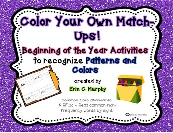 Color Your Own Match-Ups! Patterns and Colors