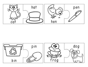Color Your Own Match-Ups! Rhyming Buddies