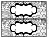 Color Your Own Name Tags