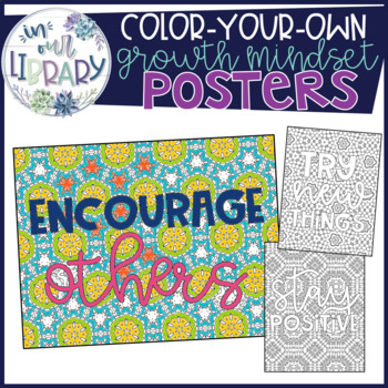 Color-Your-Own Posters {Growth Mindset}