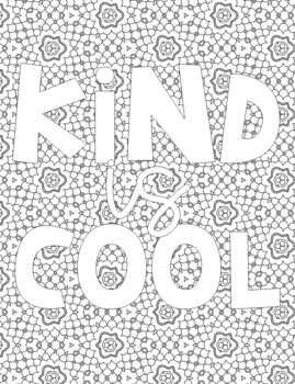 Color-Your-Own Posters {Kindness}