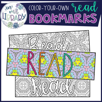 """Color-Your-Own """"Read"""" Bookmarks"""