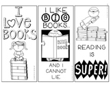 Color Your Own Reading Bookmarks