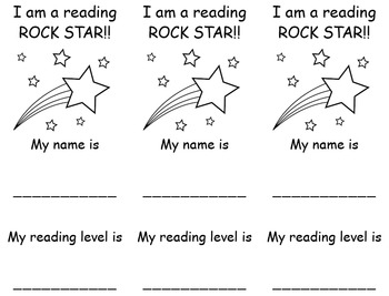 Color Your Own Reading Level Bookmark