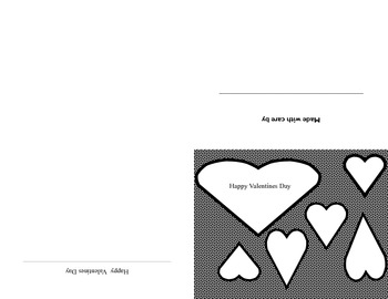 Color Your Own Valentine 3