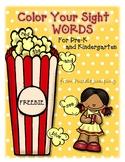 Color Your Sight Word FREEBIE for Preschool and Kindergarten