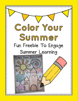 Color Your Summer: Fun Freebie To Engage Summer Learning