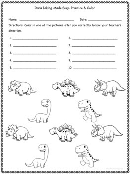 FREE Data Coloring Sheets- Speech/Language Therapy, Special Education
