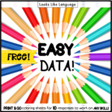 Student Tracking Data Sheets FREE | Speech therapy | Special Education