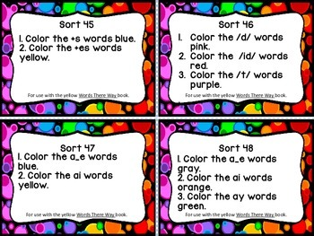 Words Their Way Word Sorts