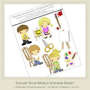 Color Your World Printable Graphics Sheet
