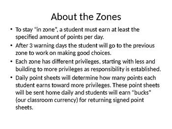 Color Zones Leveled Behavior System