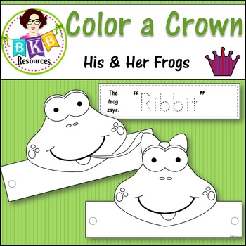 Color a Crown - His & Her Frogs
