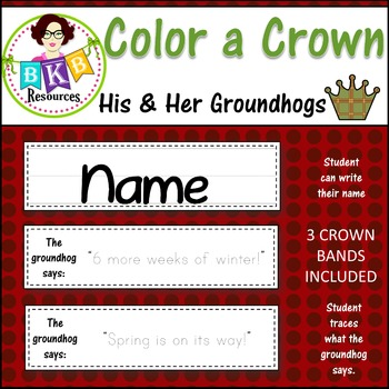 Color a Crown - His & Her Groundhogs