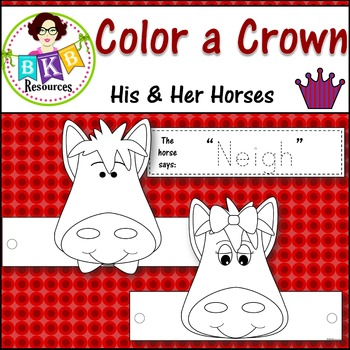 Color a Crown - His & Her Horses