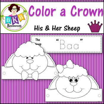 Color a Crown - His & Her Sheep