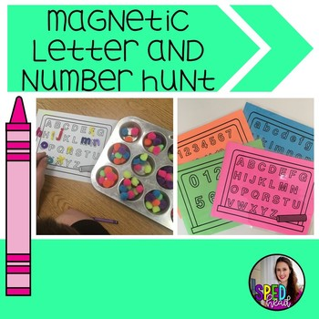 Magnetic Letter and Number Hunt Game Mats