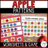 Apple Patterns Worksheets and File Folder Game