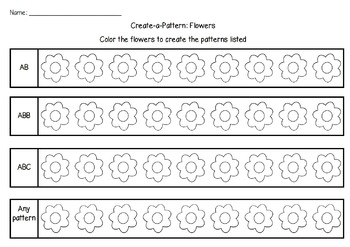 Color-a-Pattern: Flowers