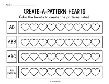 Color-a-Pattern: Hearts