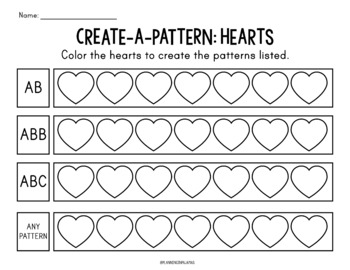 Coloring Patterns: Hearts