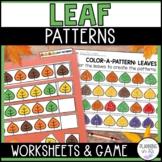 Leaf Patterns (Worksheets + File Folder Game)