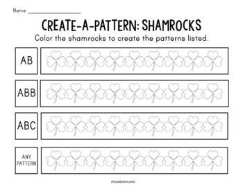 Color-a-Pattern: Shamrocks