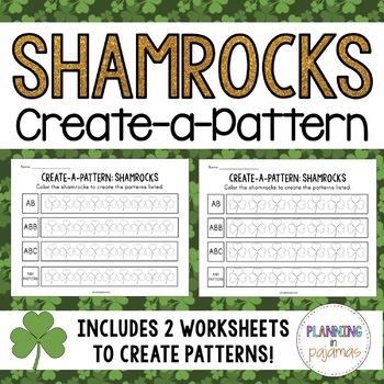 Color-a-Pattern: Shamrocks