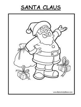 Color a Rhyme Santa